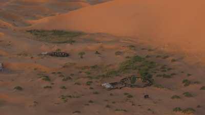 Les dunes de Merzouga au lever de soleil