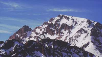 Montagnes, Atlas, environs de Imlil près du Mont Toubkal