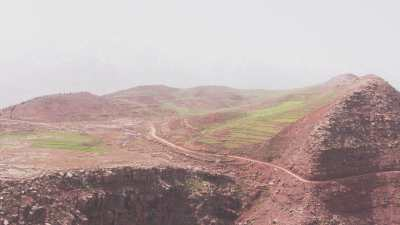 Formations rocheuses, plateau de Timnkar
