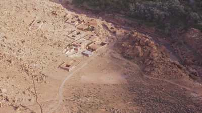 Montagnes et villages  près de Telouet