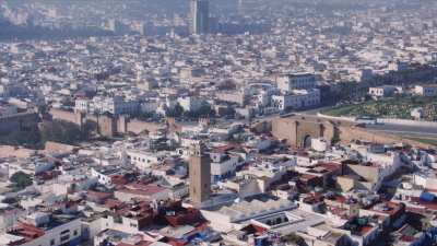 Approche vers la Kasbah des Oudayas