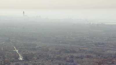 Arrivée dans la brume