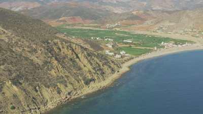 Côte rocheuse près du village de Almarsa Ighaniman