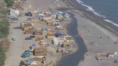 Tentes sur la plage Martil