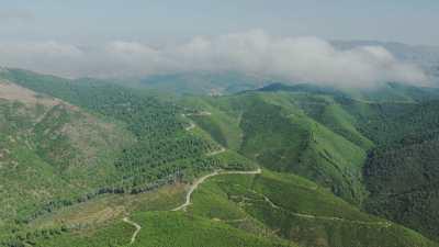 Montagnes, verdure, forêts dans la région de Tétouan