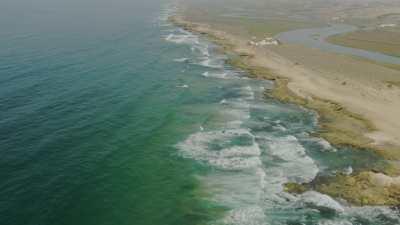 Fleuve Oum Errabiâ et ses affluents, plage de Oualidia