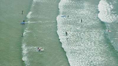 Cours de surf, plage de Oualidia