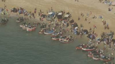Sidi El Abed, plage et bateaux de pêche