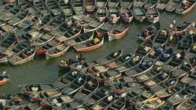 Algues rouges, port de El Jadida