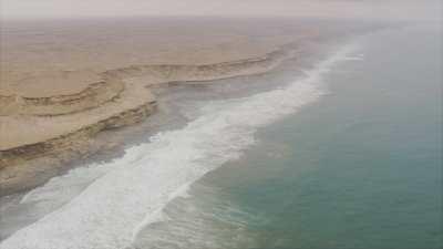 Falaises sur l'Atlantique au sud du Maroc