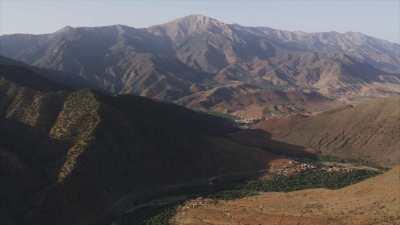 Montagnes dans la région d'Asni, Ouirgane, Marrakech