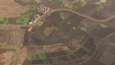 Paysages de champs cultivés, villages