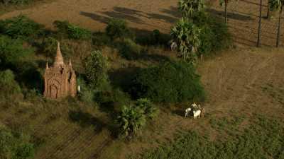 Paysans près de Bagan