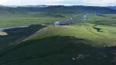 Les étendues des steppes mongoles