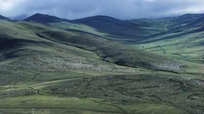 Vastes steppes mongoles, cimetière