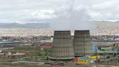 Oulan Bator et les usines environnantes