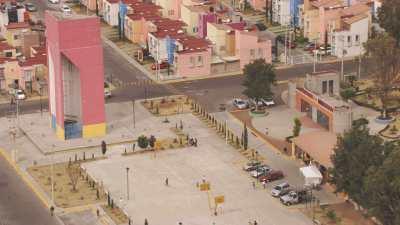 Quartiers populaires  au nord de Mexico