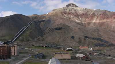 Site de Pyramiden, vue générale