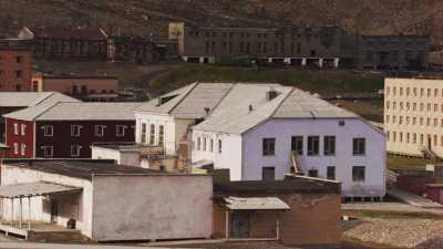 Cité minier russe abandonnée de Pyramiden, gros plans