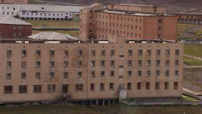 Cité minière russe abandonnée de Pyramiden