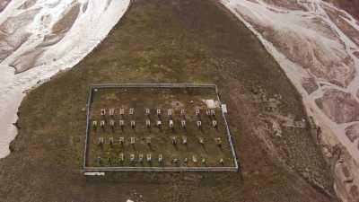 Le cimetière de Pyramiden