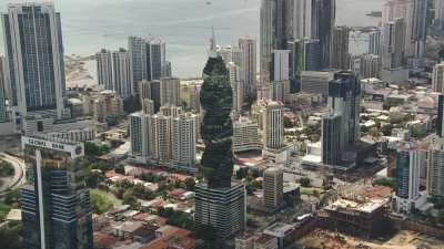 Les gratte-ciels du centre ville