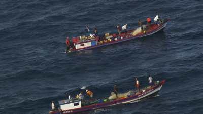 Pêcheurs au large de Panama