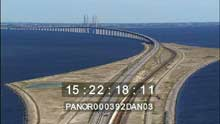 Le pont reliant la Suède au Danemark