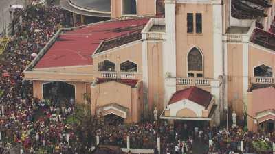 Eglise de Tacloban détruite