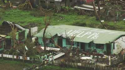 Habitat après le passage du  typhon Haiyan