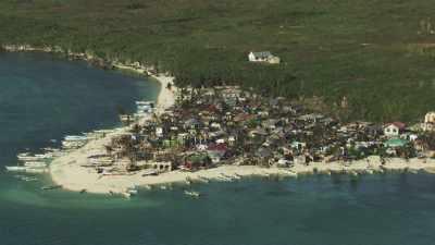 Villages sinistrés après le passage du  typhon Haiyan