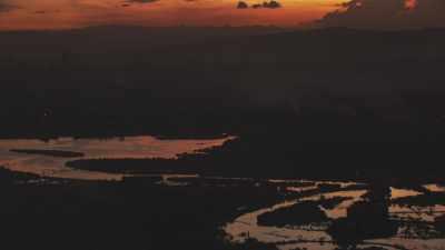 Région de Cebu au crépuscule