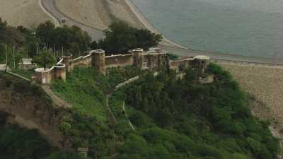 Fort Ramkot, barrage et lac Mangla