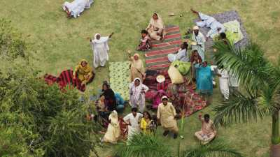 Pique-nique en famille, Mausolée du Maharaja Ranjit Singh à Lahore