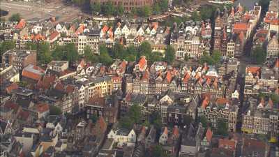 La ville et les canaux d'Amsterdam