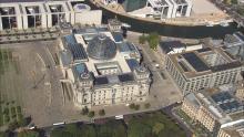 Le Reichstag et la Porte de Brandebourg