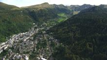 Le Mont-Dore, le Puy de Sancy et la grande cascade