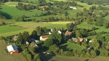 Le bourg de Diozidoux, plateau de Millevaches