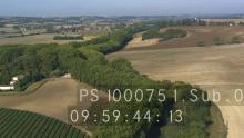 Le Canal du Midi à travers les champs