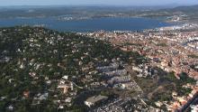 La ville, la mer et l'étang de Thau