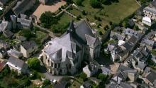 Confluence Vienne-Loire et Château et village de Montsoreau