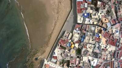 Village fortifié sur la côte au nord de Rabat
