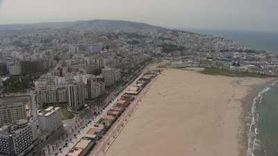 La ville depuis le front de mer
