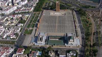 Le mausolée de Mohammed V et la tour Hassan