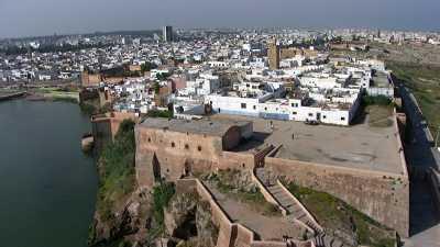 La Kasbah des Oudayas et l'embouchure du Bouregreg