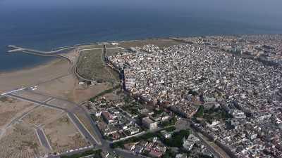 Survol de Salé, son port de plaisance et la côte