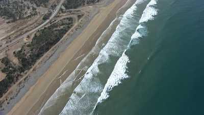 Littoral entre Agadir et Essaouira, plages, villages et plantations d'argan.