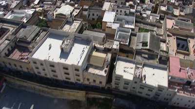 Vues verticale des toits la ville