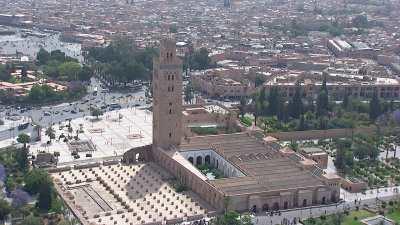 La mosquée Koutoubia et ses jardins