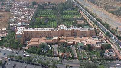 Hôtel la Mamounia et la mosquée Koutoubia